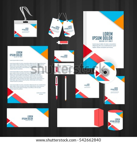 creative illustration for Office Stationary templates.