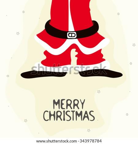 Creative illustration of Santa Claus Body for Merry Christmas celebration. - stock vector