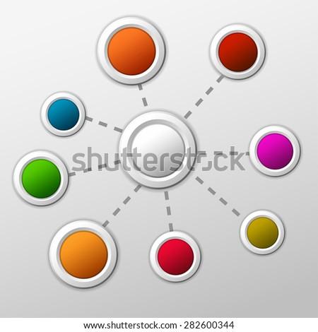 Creative info graphic  - stock vector