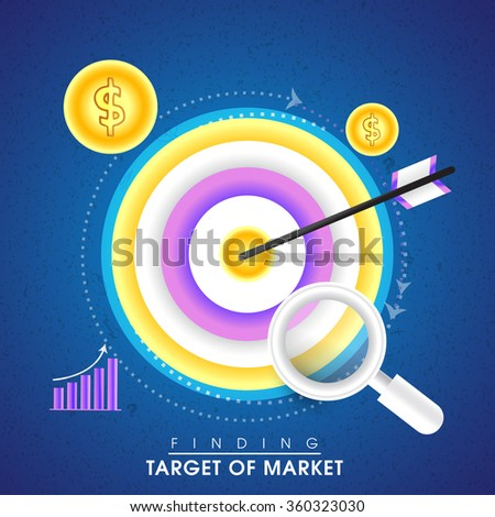 Creative infographic elements of Finding Target for Business concept. - stock vector