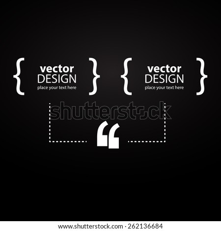 Creative infographic for quotations. Vector art.  - stock vector