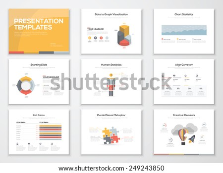 Creative infographics presentation templates and business brochures. Information graphics for advertisements, magazines, booklets, websites, prints, marketing etc. - stock vector