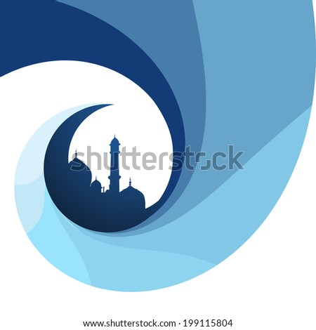 creative Islamic festival design background - stock vector