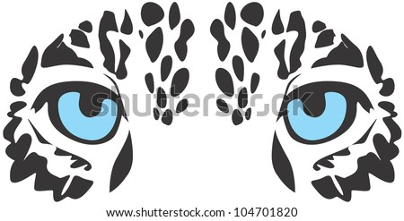 Creative Jaguar Eyes Illustration - stock vector