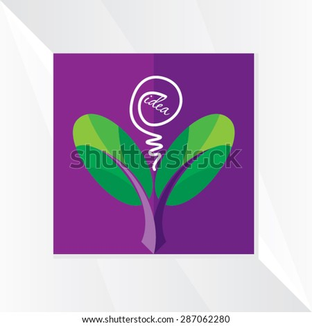 creative leaf vector illustration - stock vector