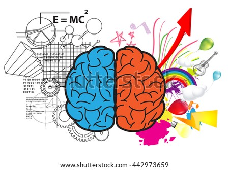 Creative Left Brain And Right Idea Concept Background