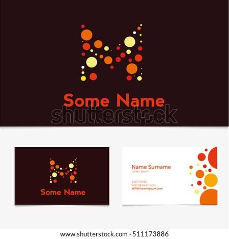 Creative letter m design vector template stock vector 511173886 creative letter m design vector template on the business card templateabc typeface type colourmoves