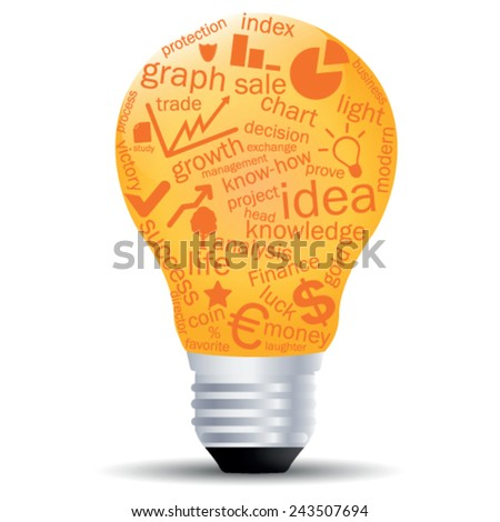 Creative light bulb - stock vector