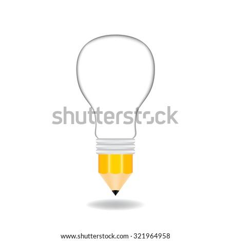 Creative light bulb - stock vector