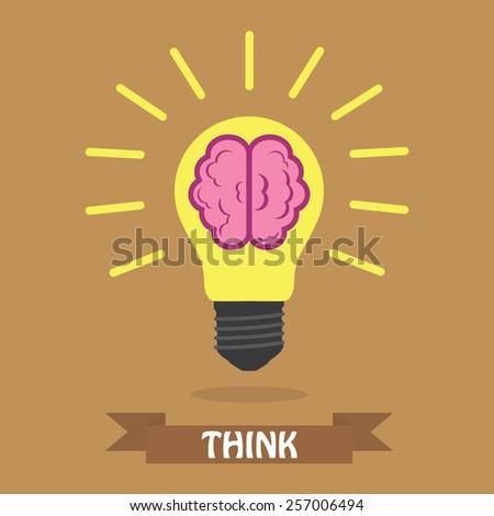 Creative light bulb Idea concept  - stock vector