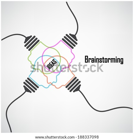 Creative light bulb Idea concept background design for poster flyer cover brochure ,business idea ,abstract background.vector illustration contains gradient mesh. - stock vector