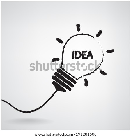 Creative light bulb Idea concept background design for poster flyer cover brochure ,business idea ,abstract background.vector illustration contains gradient mesh - stock vector