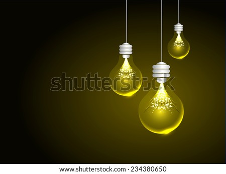 Creative light bulb Idea concept background, design for poster flyer cover brochure ,business idea ,abstract background.vector illustration  - stock vector