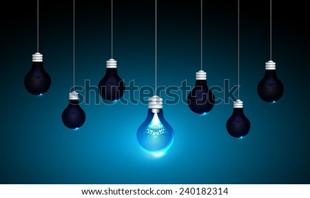 Creative light bulb Idea concept background, design for poster flyer cover brochure ,business idea ,abstract background.vector illustration