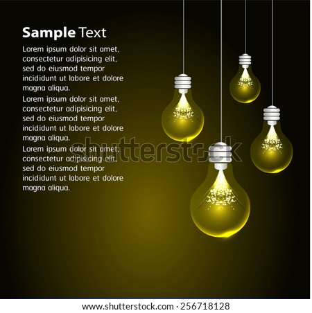 Creative light bulb Idea concept background, design for poster flyer cover brochure ,business idea ,abstract background.vector illustration. text box - stock vector