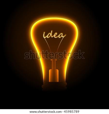 Creative light bulb. Vector. - stock vector