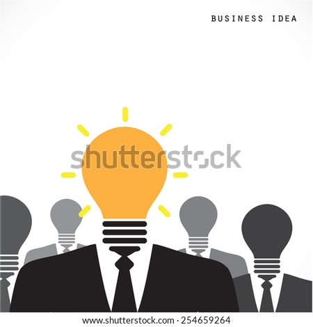 Creative light bulb with human head symbol, thinking about success solution, lightbulb as creativity metaphor, leader concept. Vector illustration  - stock vector