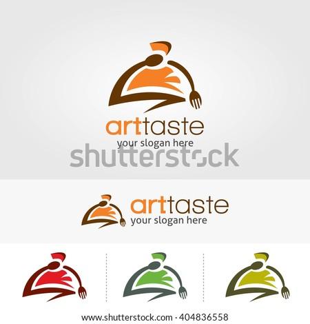 Creative logo art taste restaurant template design.  Vector illustration with flat style design - stock vector