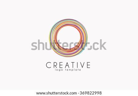Creative logo. Colorful logo. geometric icon.  - stock vector