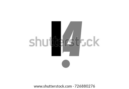 Creative Logo Icon Combination Of Alphabet Letter Ia I A In Black And Grey Isolated On White