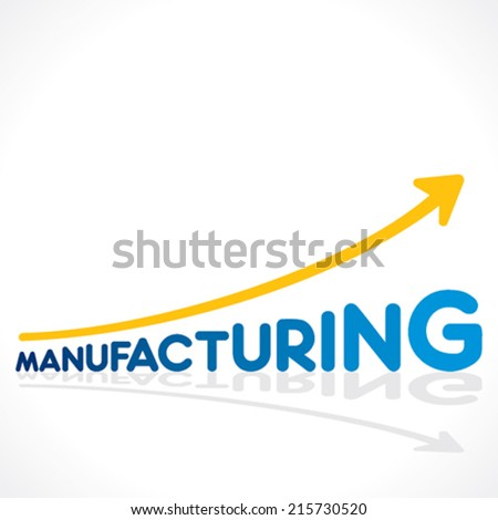 creative manufacturing word growth graph design vector - stock vector