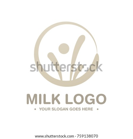 Creative Milk Logo Symbol Milk Business Stock Vector 759138070
