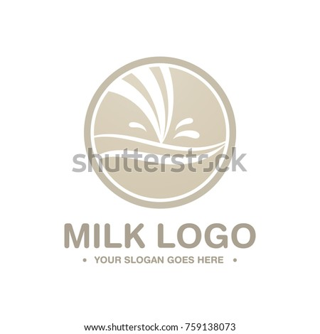 Creative Milk Logo Symbol Milk Business Stock Photo Photo Vector