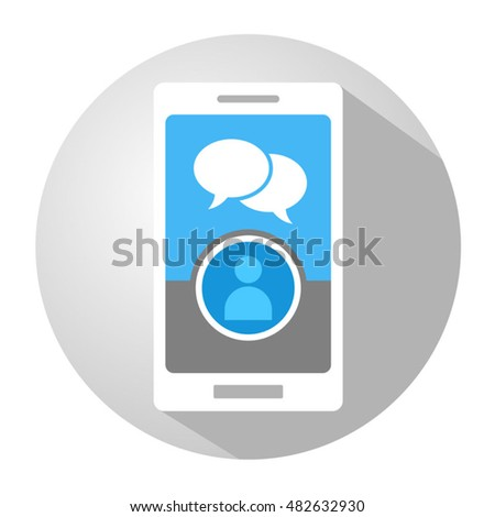 creative mobile chat illustration