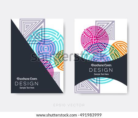 Creative Modern Brochure Design Templates Oriental Stock Vector
