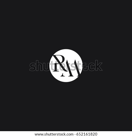 Creative modern stylish unique connected geometric rounded artistic black  and white RM MR R M initial based. Rm Stock Images  Royalty Free Images   Vectors   Shutterstock