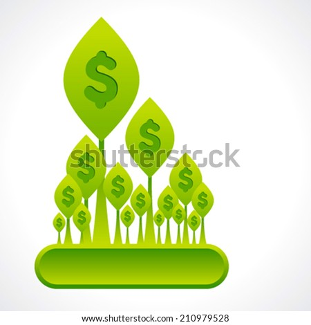 creative money plant or dollar forest background vector - stock vector