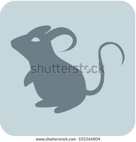 Creative Mouse Icon - stock vector