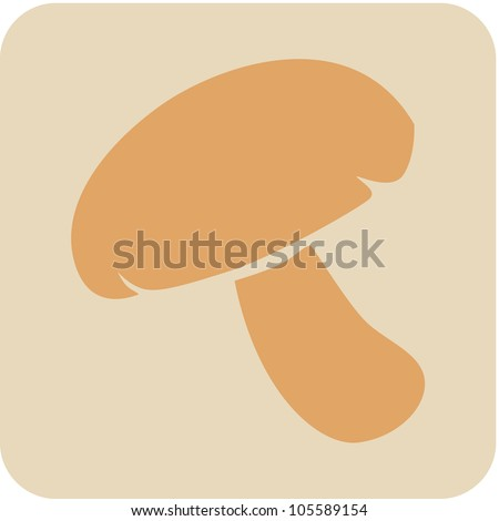 Creative Mushroom Vegetable Icon - stock vector