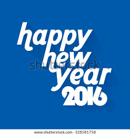 creative new year 2016 concept