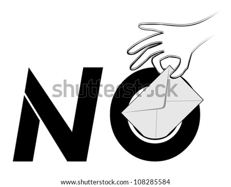 Creative no vote message - stock vector