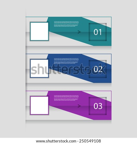 Creative numbered banners. Can be used for advertising / tutorial / infographics.  - stock vector