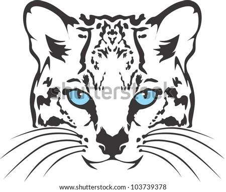 Creative Ocelot Cat Illustration - stock vector