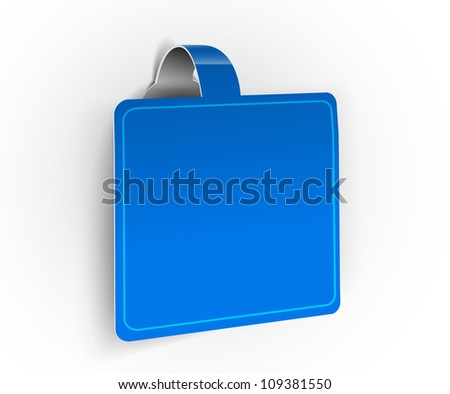 Creative origami ribbon web banner web. - stock vector