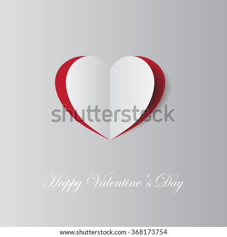 Creative paper heart for Valentines day card - stock vector