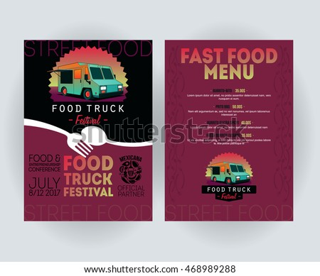 Street party invitation stock images royalty free images for Food truck menu design