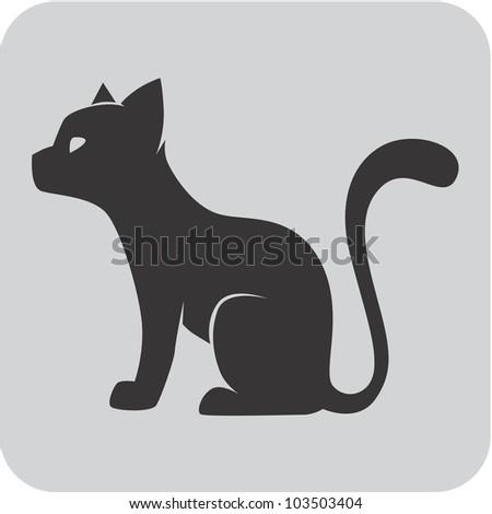 Creative Pet Cat Icon - stock vector