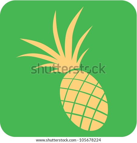Creative Pineapple Fruit Icon - stock vector