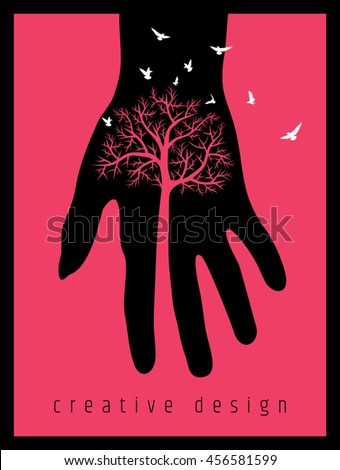 creative poster design save tree stock vector royalty free