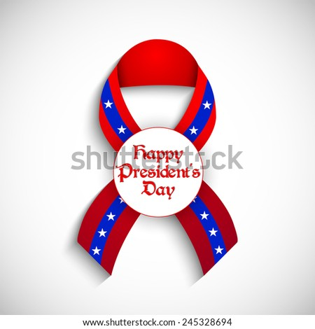 creative President Day ribbon with white background - stock vector