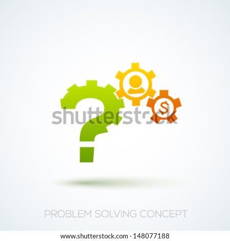 Creative problem solving concept. Vector illustration. - stock vector
