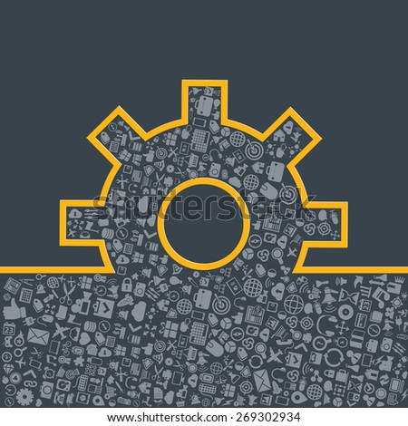 Creative process concept in flat style, vector. - stock vector
