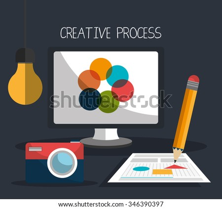 Creative process graphic design theme, vector illustration