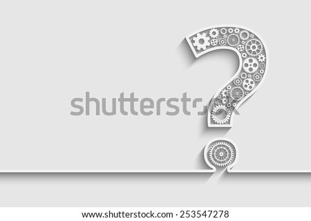 Creative Question mark with gears. Eps10 vector for your design - stock vector