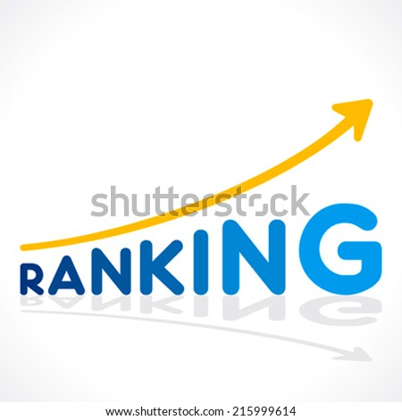 creative ranking word growth graph vector - stock vector
