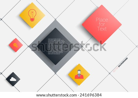 Creative rectangles background. Eps10 vector for your design - stock vector